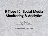 9 Tipps für Social Media Monitoring & Analytics