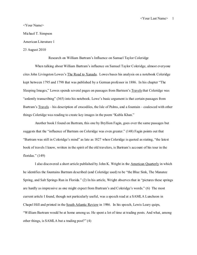 Mla thesis paper