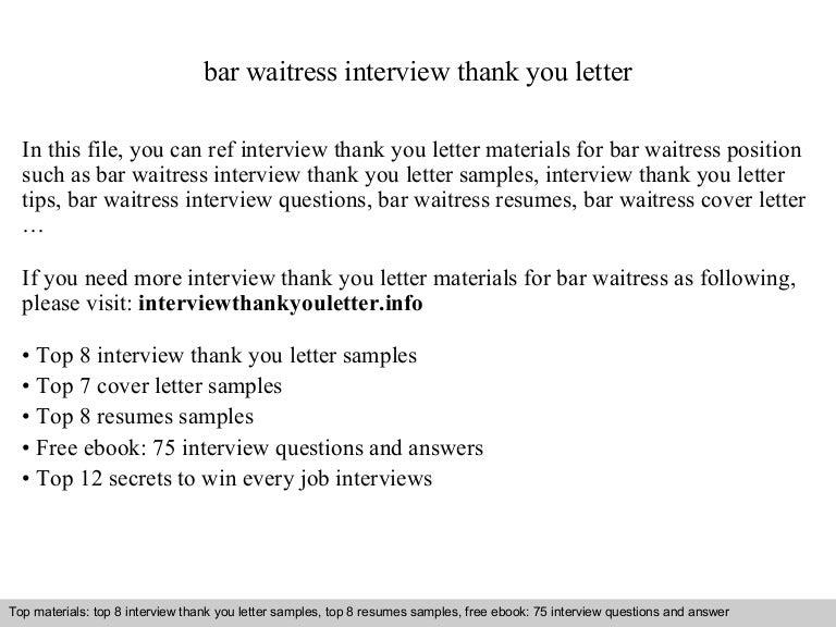 Bar waitress – Waitress Resumes