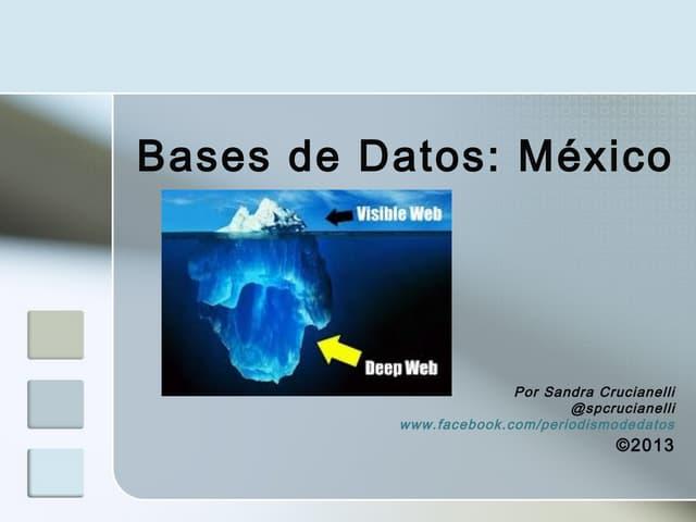Bases de Datos. Caso México