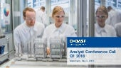 BASF analyst conference call Q1 2018 charts