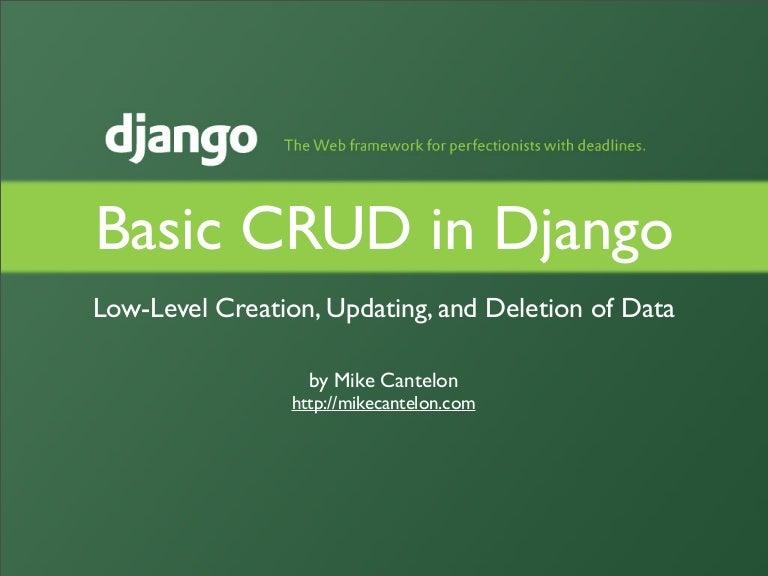Basic Crud In Django