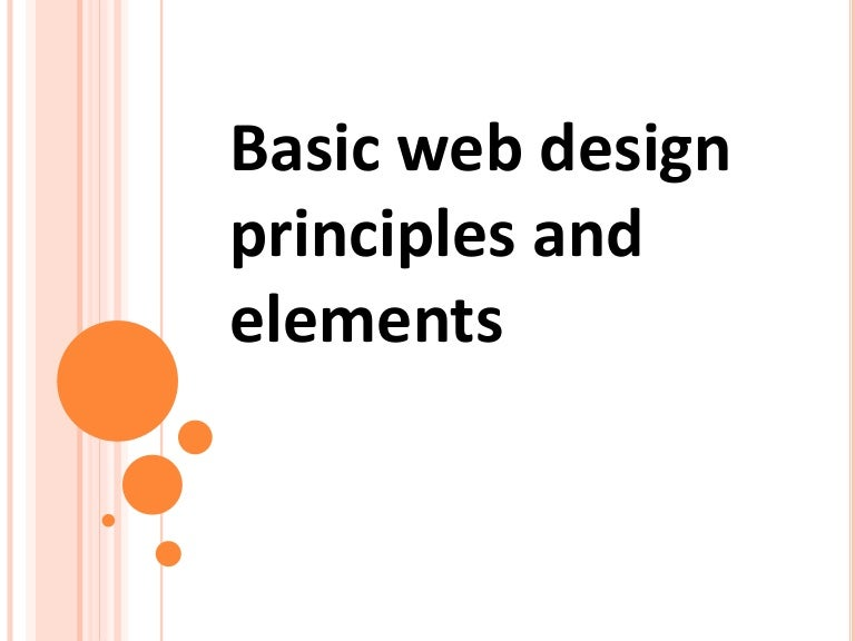 Basic Webdesign Principles And Concepts Autosaved
