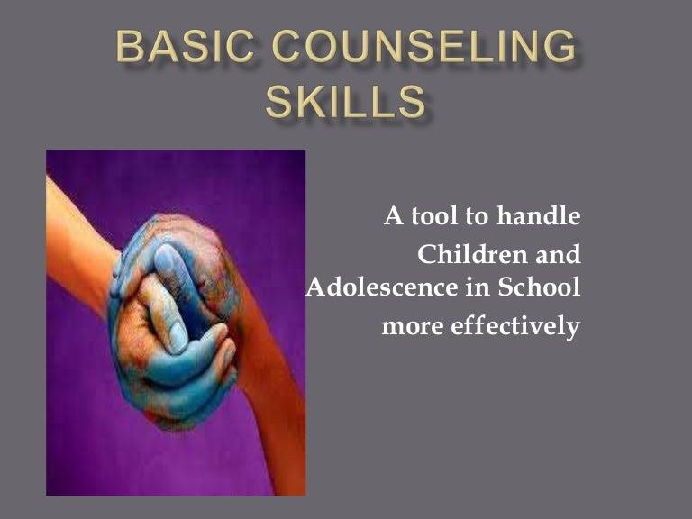 Basic counselling skills.