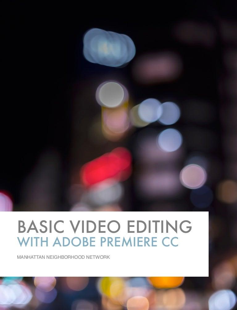 Adobe Premiere CC Handbook