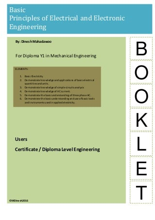 Basic electrical and electronic principles