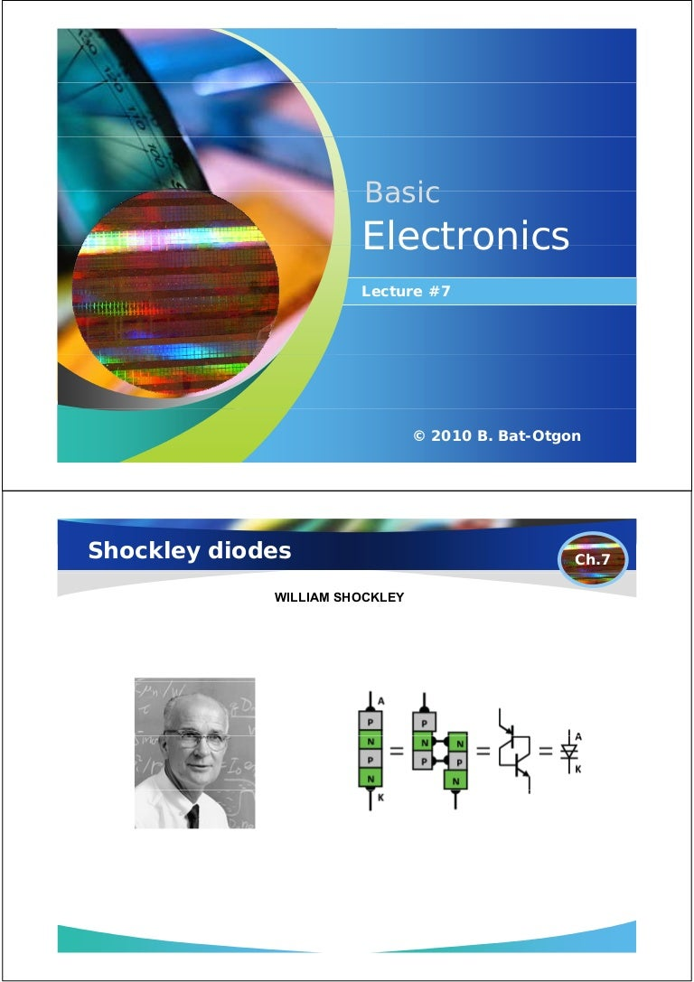 Basic Electronics 72010 Shockley Diode