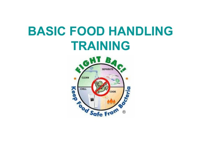 basic food handling training power point presentation