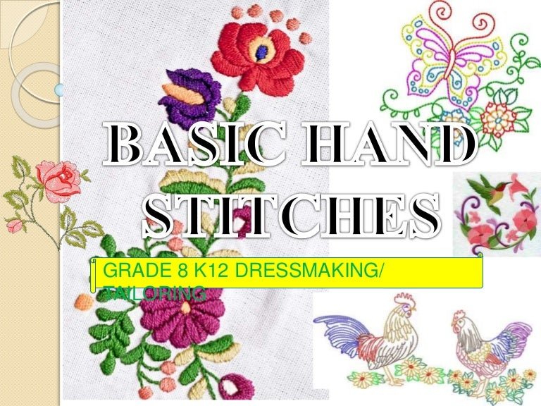 Basic Hand Stitches