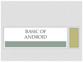 Basic of Android App Development