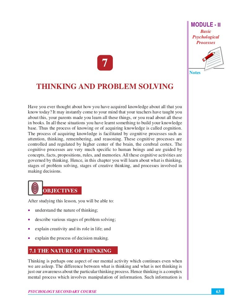 psychology problem solving