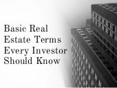 Basic Real Estate Terms Every Investor Should Know