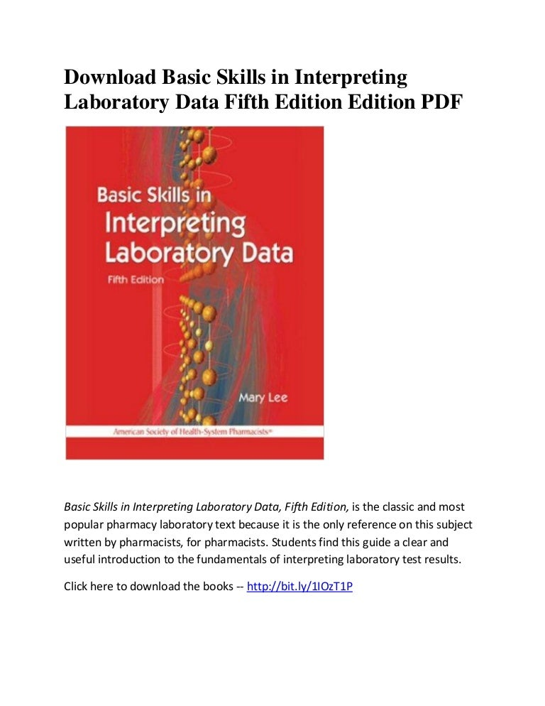 basic skills in interpreting laboratory data 5th edition pdf download
