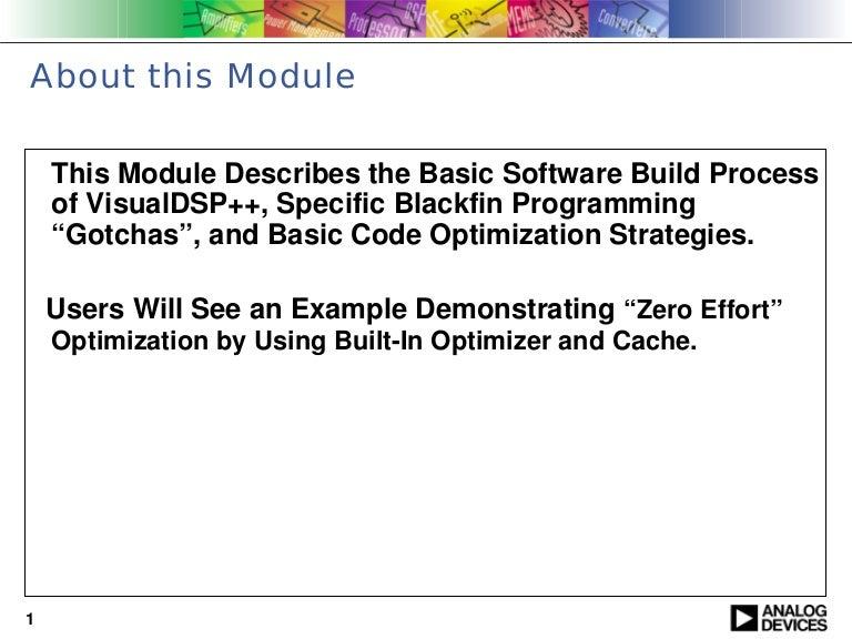 Basics of building a blackfin application