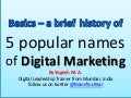 Basics of Digital Marketing