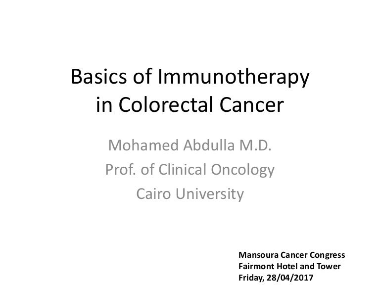 Basics Of Immunotherapy In Colorectal Cancer