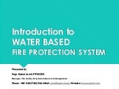 Basic training  water based fire protection