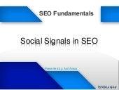 Social Signals in SEO - SEO Fundamental Workshop at BASIS