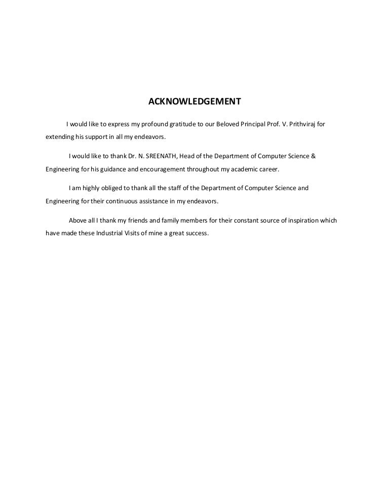 ipt report – Acknowledgement Report Sample
