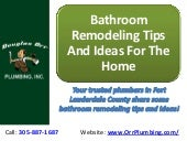 Bathroom Remodeling Tips And Ideas For The Home