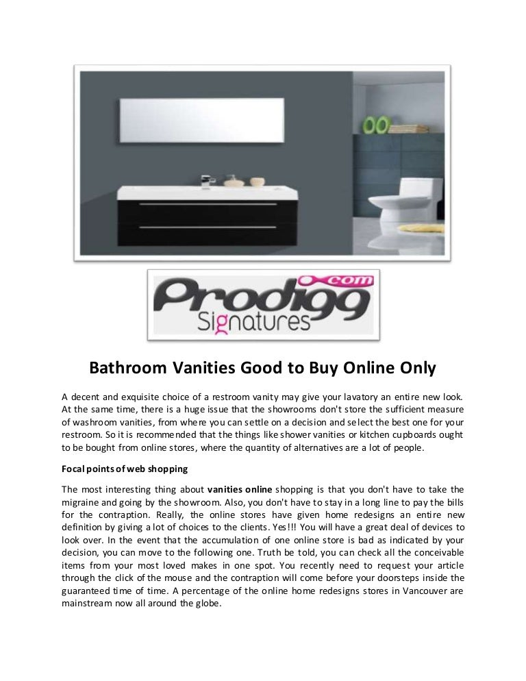 Bathroom Vanities For Sale