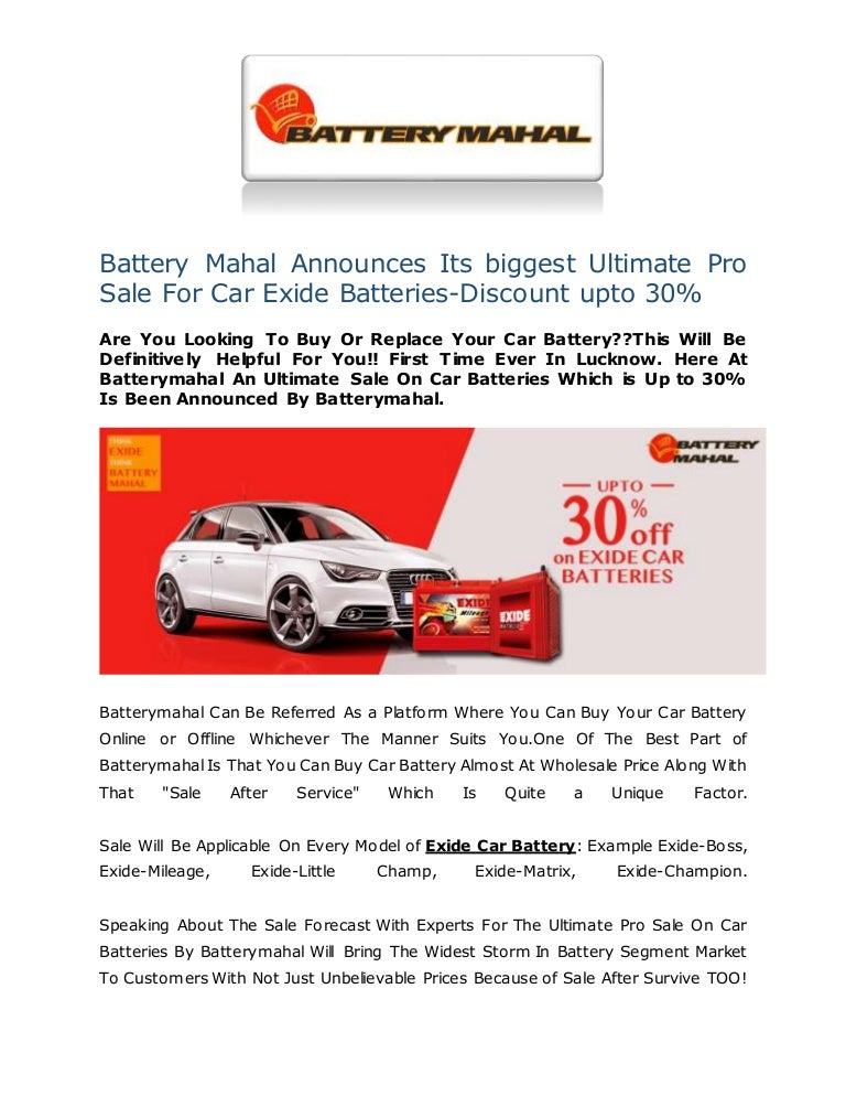 Battery Mahal Announces Its Biggest Ultimate Pro Sale For