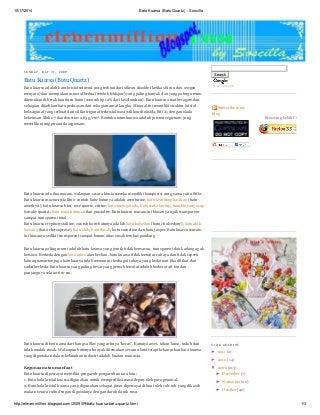 Batu kuarsa (batu quartz) soscilla