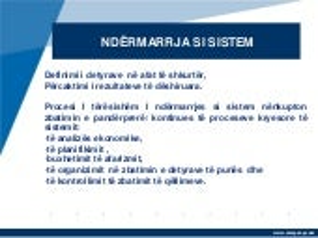 Bazat teorike te procesit te qeverisjes ekonomike te ndermarrjes si sistem