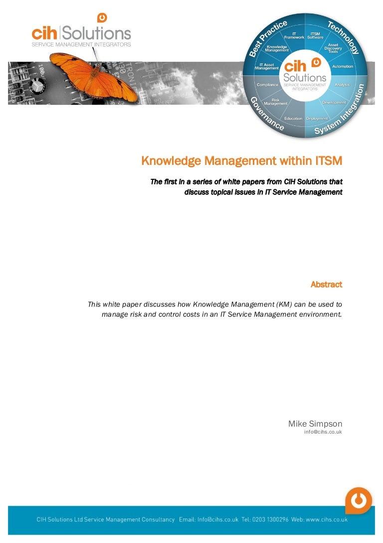 Knowledge management essay
