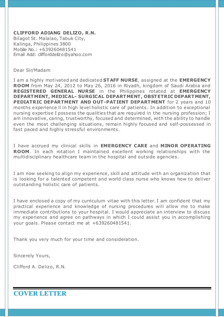 Cover letter and curriculum vitae madrichimfo Image collections