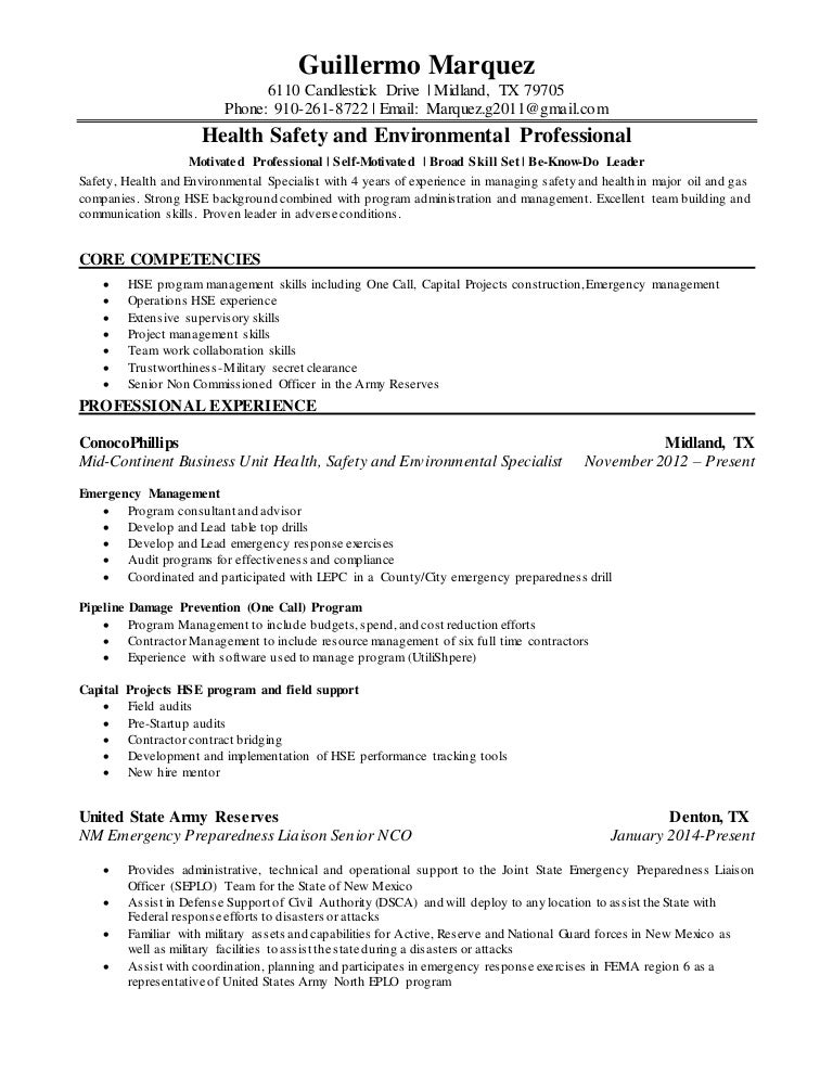 Unique Emergency Management Resume In Texas Composition ...