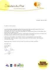 Letter of recommendation au pair spiritdancerdesigns Image collections