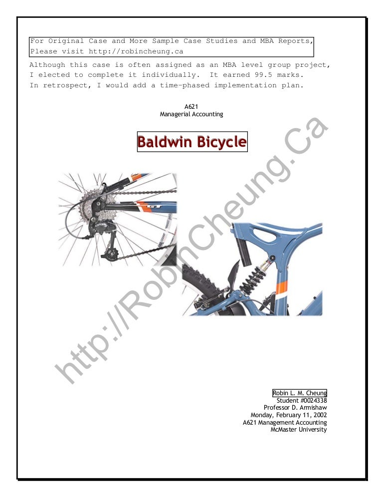 what is the relevant cost of manufacturing a challenger bike