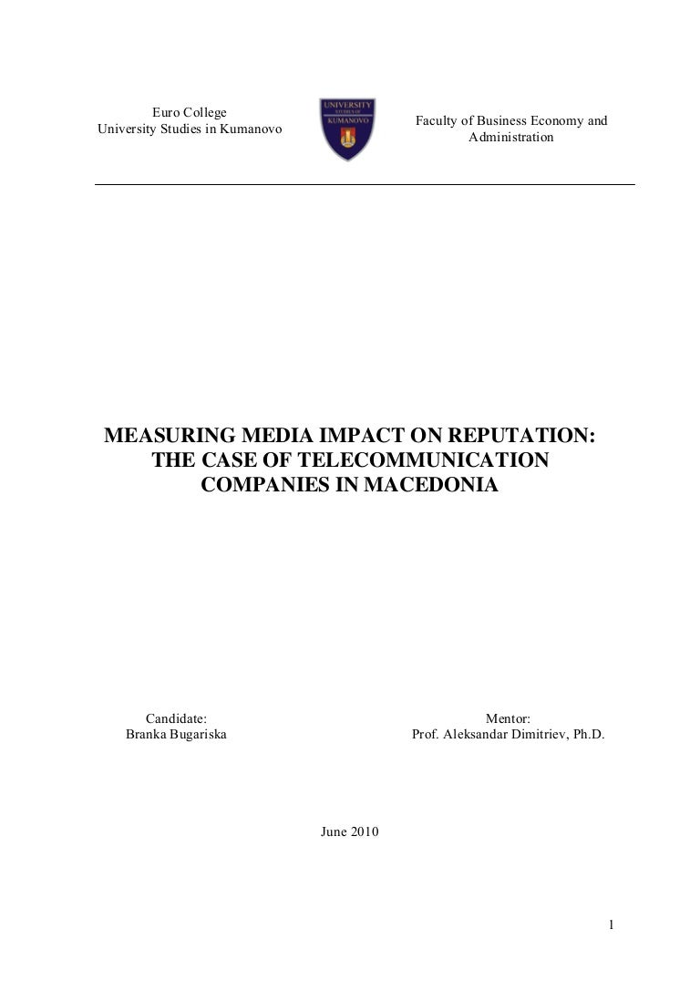 Master thesis in corporate finance