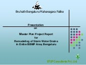 Master Plan Project Report on Remodeling of Storm Water Drains_BBMP