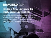 Badges: New Currency for High-Value Credentials