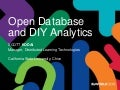 Open Database and DIY Analytics