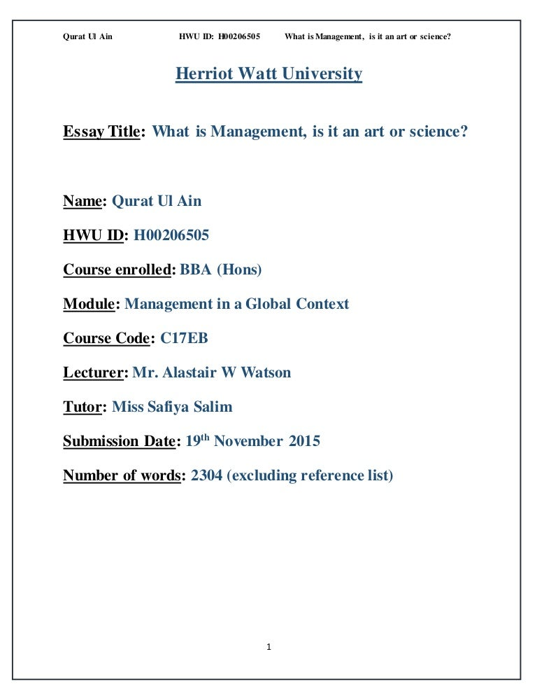 Management in a Global Context Essay
