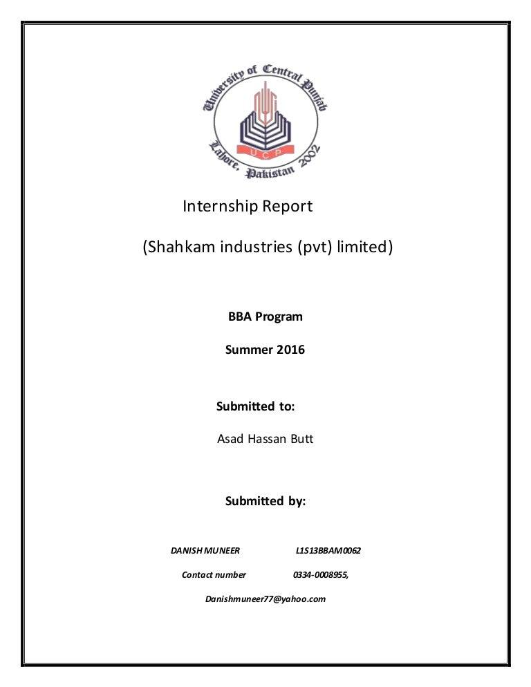 INTERNSHIP REPORT COMPLETE