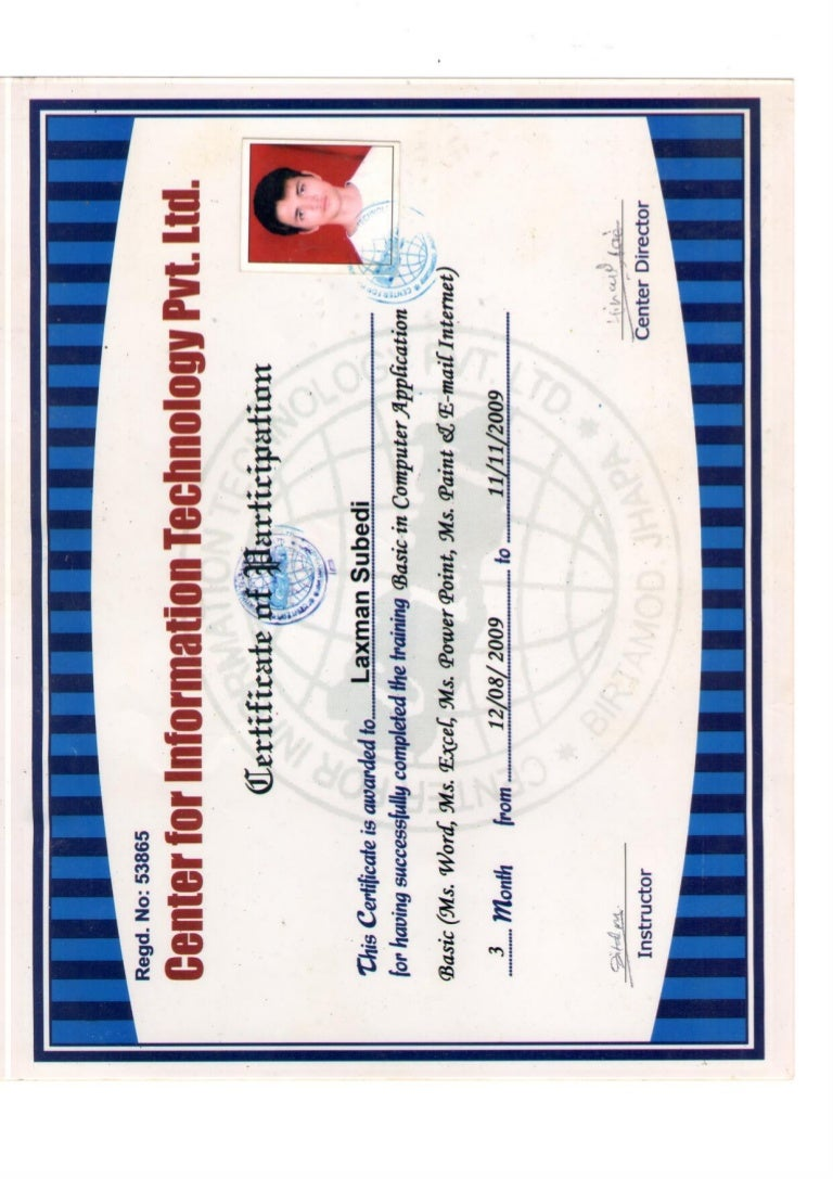 certificate computer basic