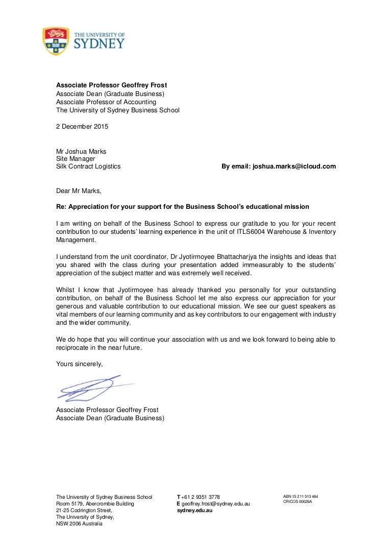 Joshua marks letter from usyd aljukfo Choice Image