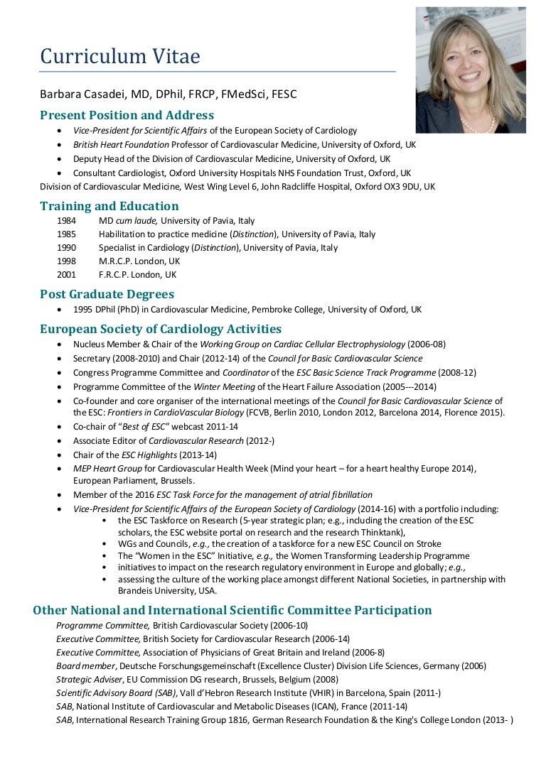 barbara casadei manifesto esc presidency