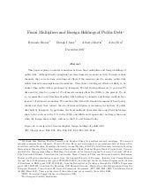 Fiscal multipliers and foreign holdings of public debt - working paper
