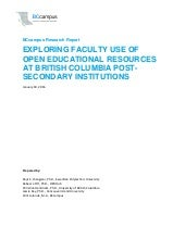 Exploring Faculty Use of Open Educational Resources at British Columbia Post-Secondary Institutions