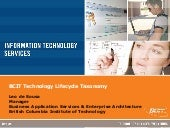 BCIT Technology Lifecycle Taxonomy