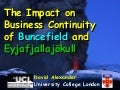 Business Continuity Management: Buncefield and Iceland