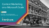 Context Marketing on a Microsoft Scale