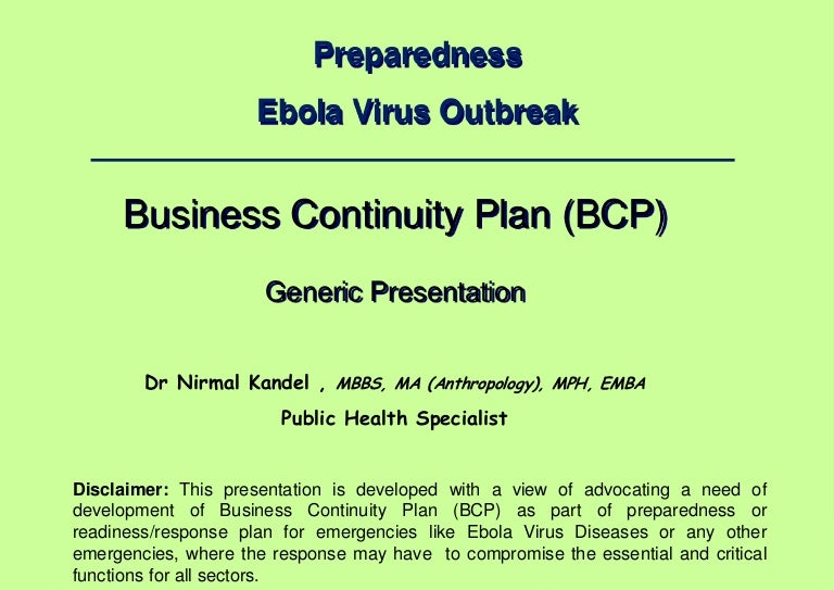 Business continuity planning for emergencies like ebola virus disease fandeluxe Images