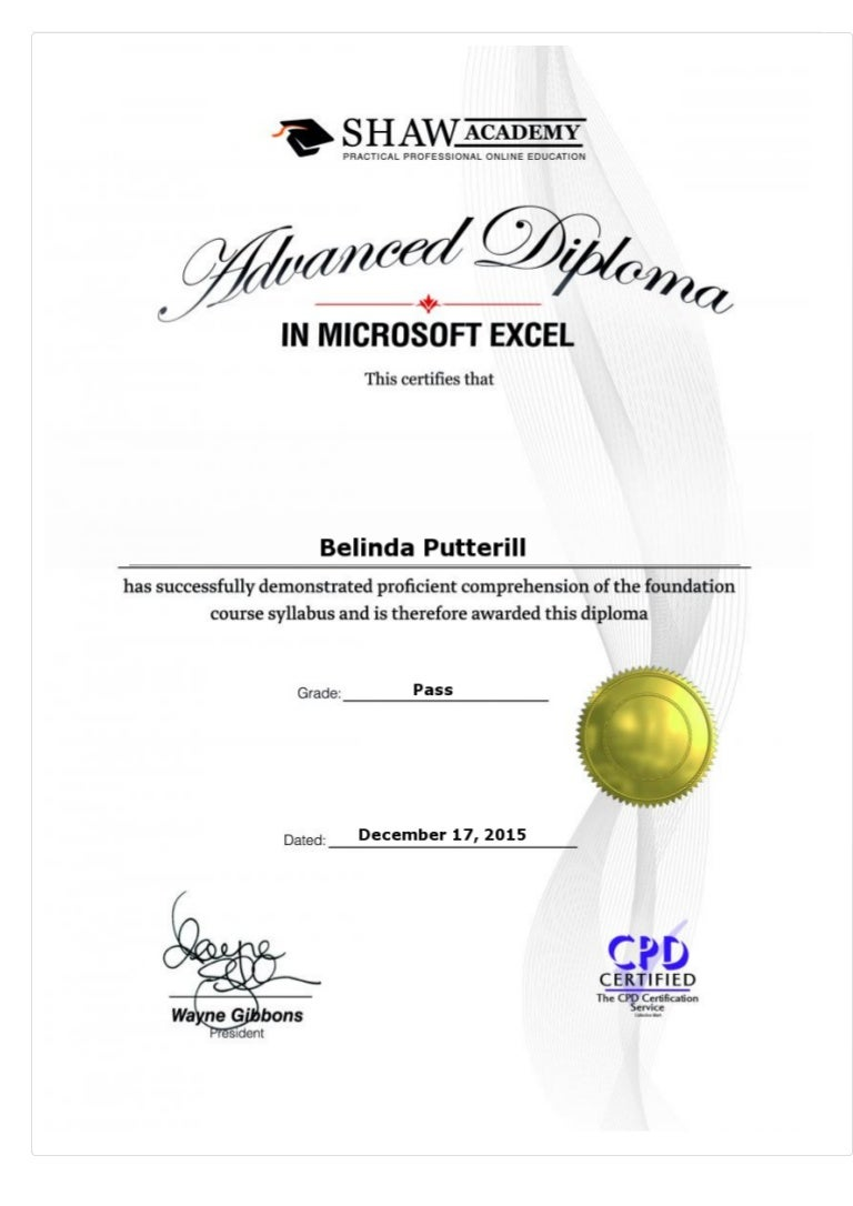 Advanced diploma in microsoft excel final assessment 2015 belinda p 1betcityfo Gallery