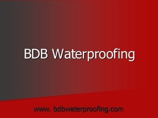 BDB Waterproofing Services